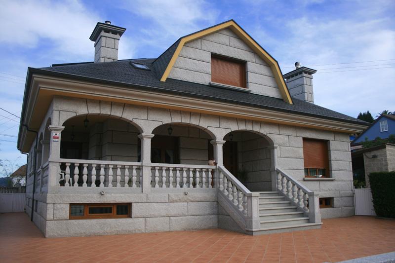 Vivienda construida en granito ibérico en Bueu
